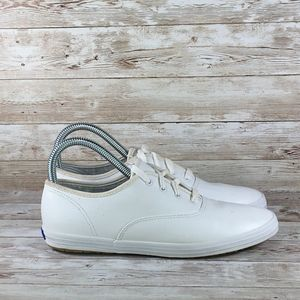 Keds  Champion Leather White Womens 8